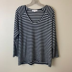 Two by Vince Camuto Black White Strip
